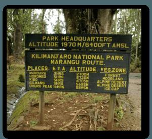 Marangu route DAY 1