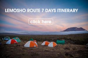 Lemosho route 7 days