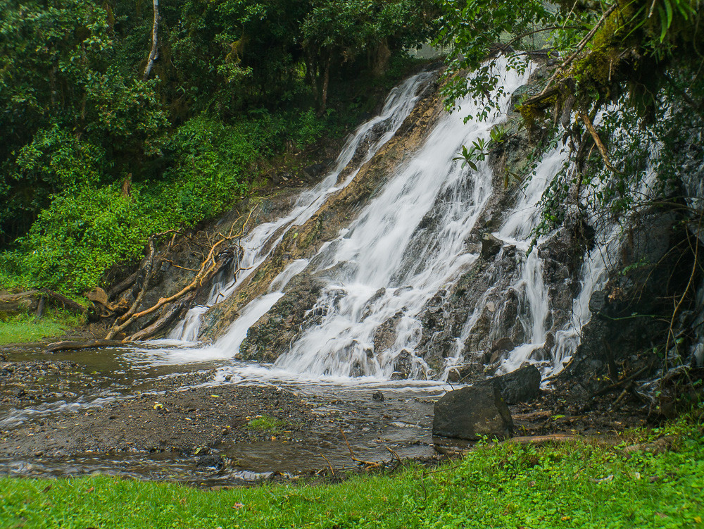 Mount Meru waterfalls