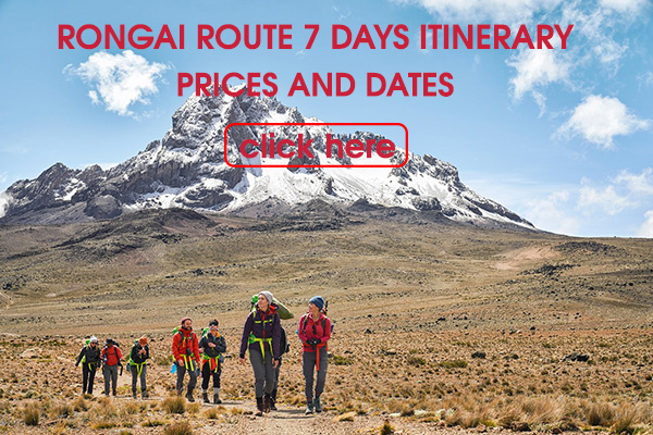 Rongai route 7 days itinerary