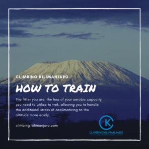 how to train to climb Kilimanjaro