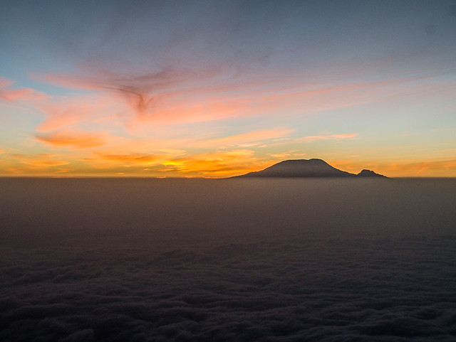 views of Kilimanjaro from Mount Meru