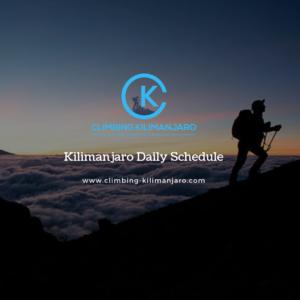 Kilimanjaro Daily Schedule