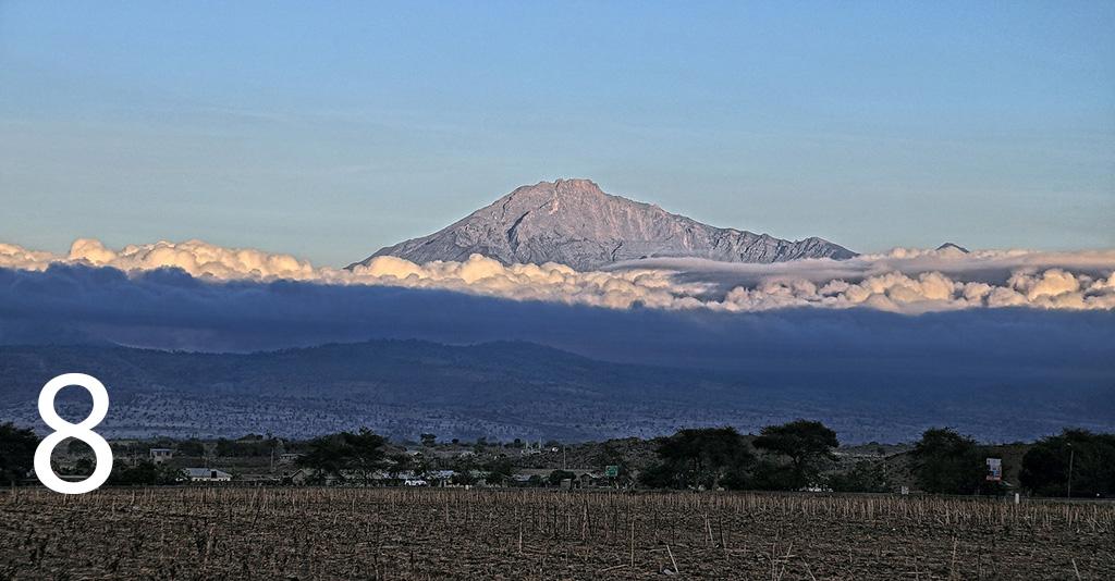 Mount Meru -Mount Karisimbi -Number 8 highest mountain in africa