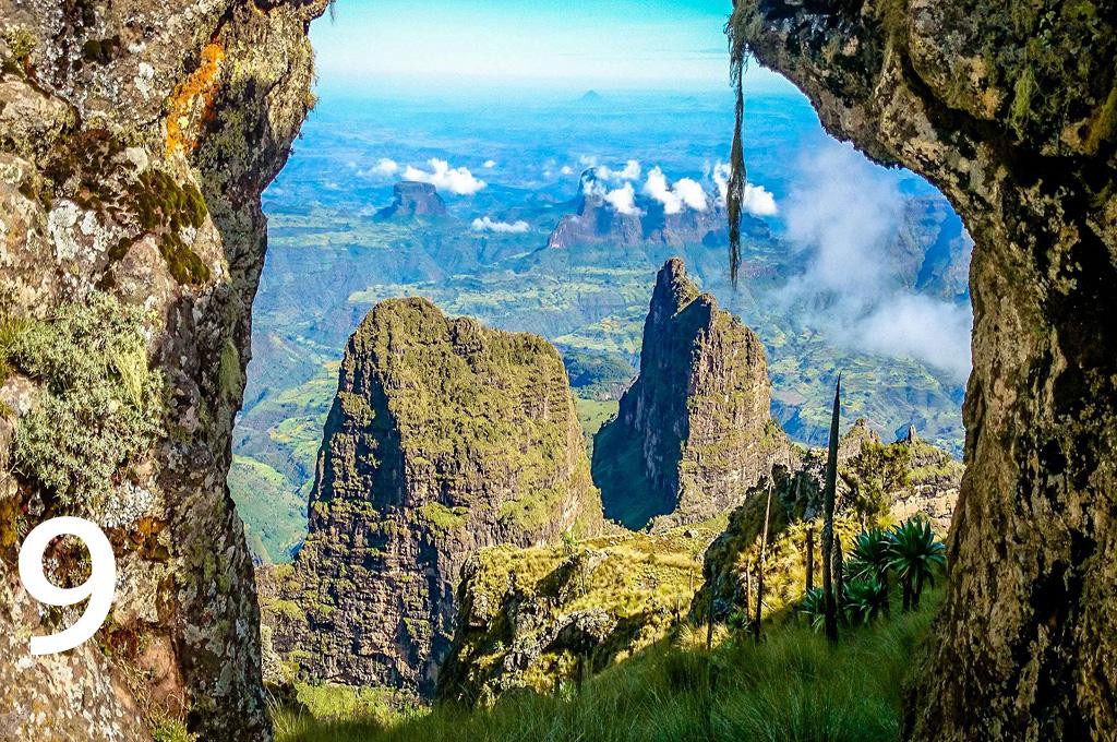 Ras Dashen Simien Mountains Ethiopia - Mount Karisimbi -Number 9 highest mountain in africa