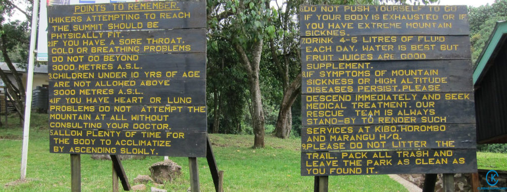 Kilimanjaro safety rules