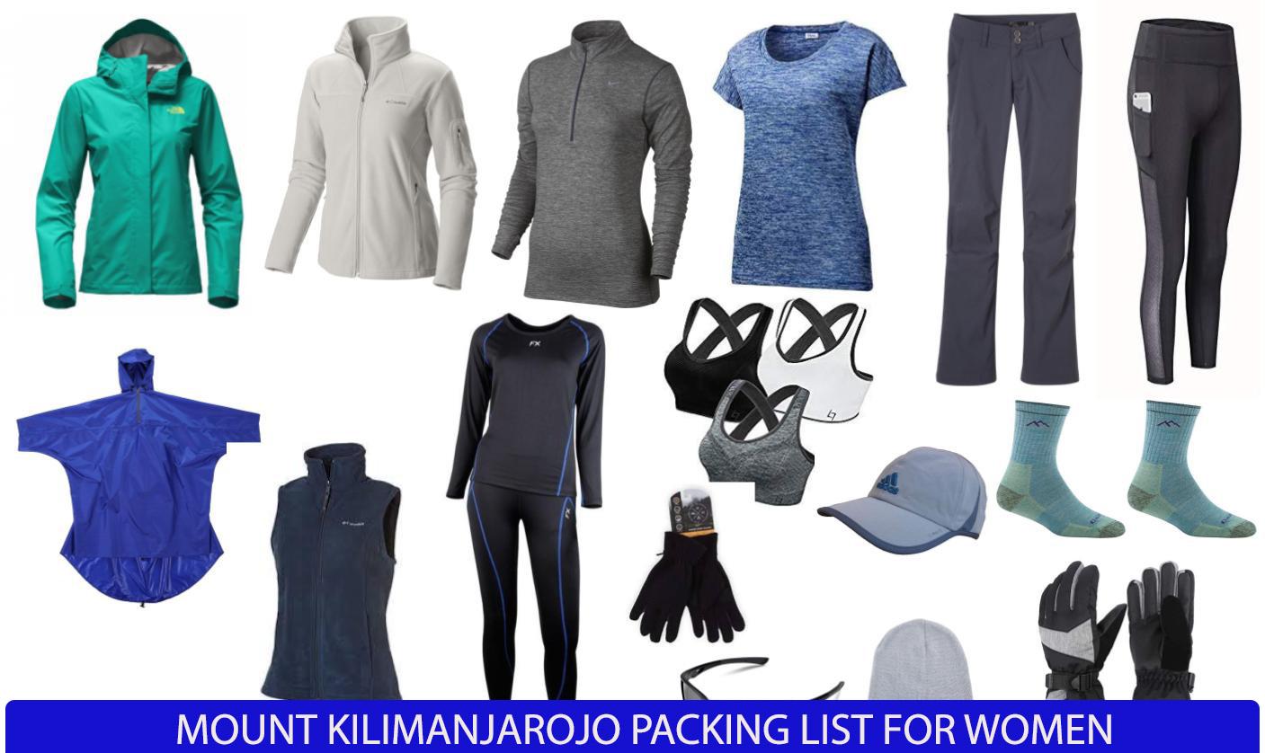 Mount Kilimanjar women hiking clothes