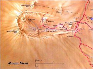 mount Meru route Map