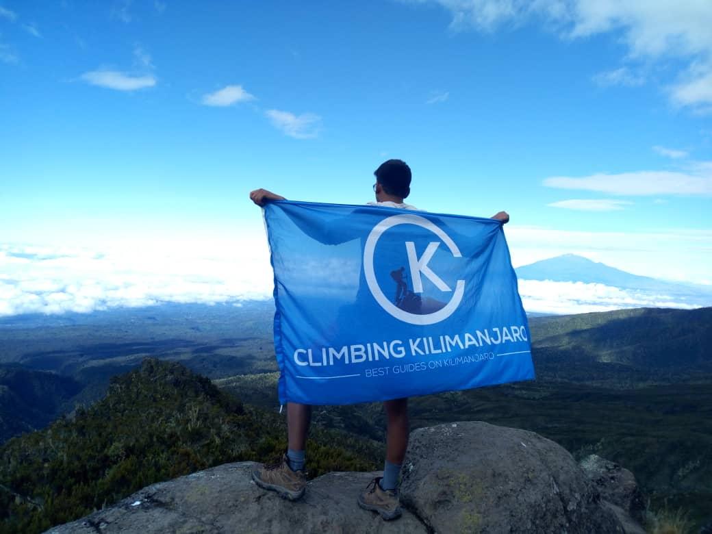 Climbing Kilimanjaro Client